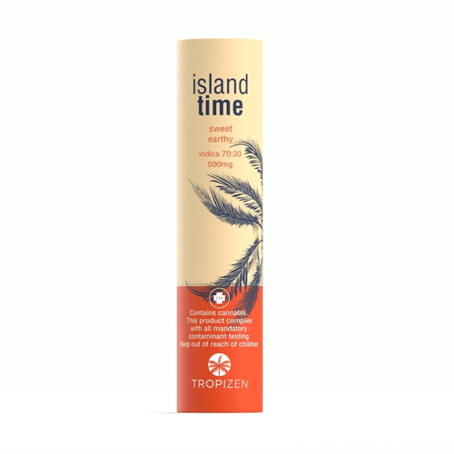 Tropizen's Island Time Indica Cannabis Vape Cartridge
