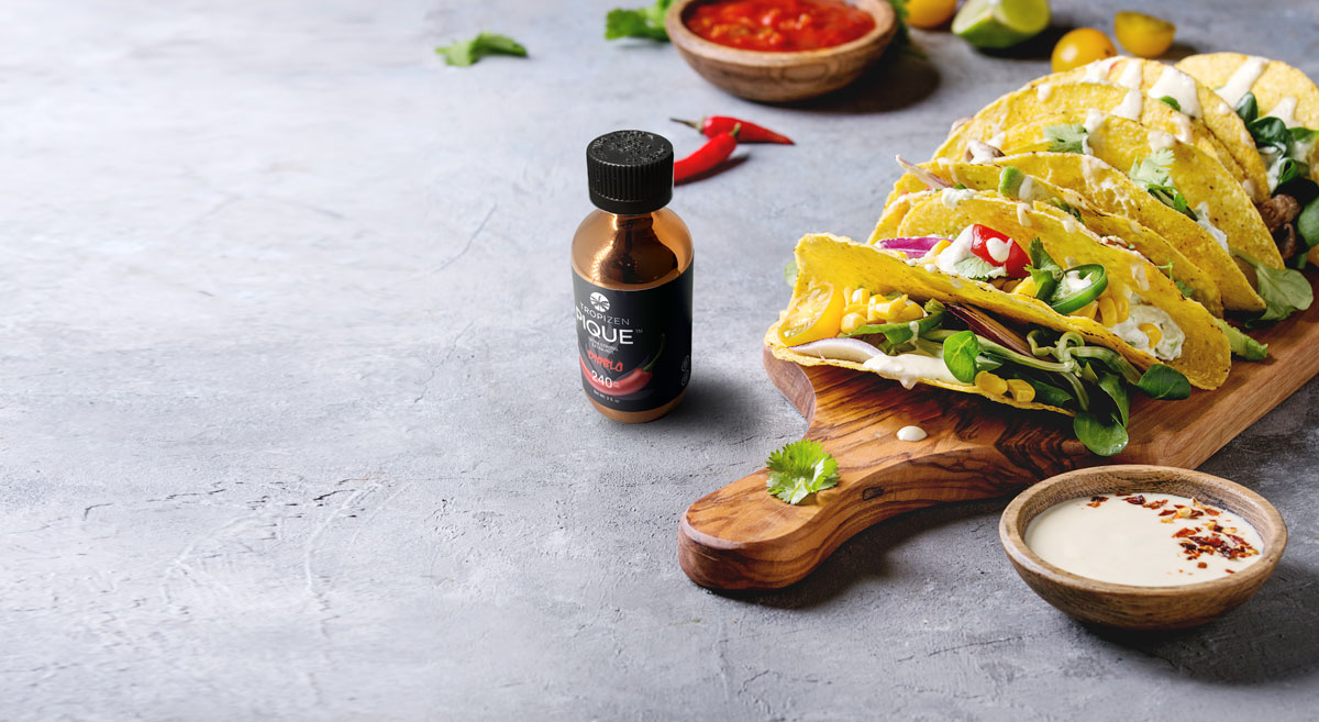Tropizen Cannabis Infused Pique Sauce with Tacos