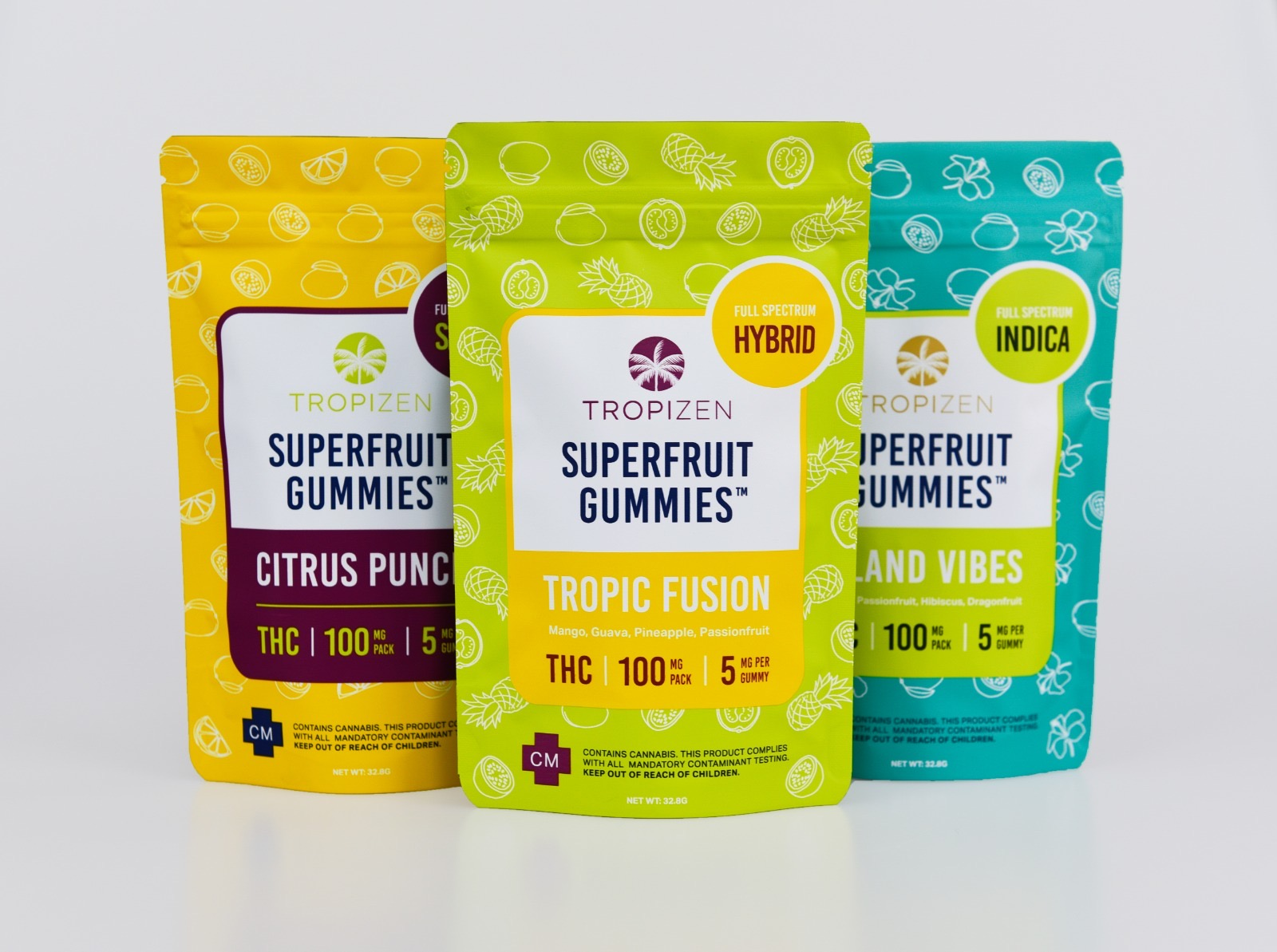 Tropizen's Cannabis Infused Superfruit Gummies