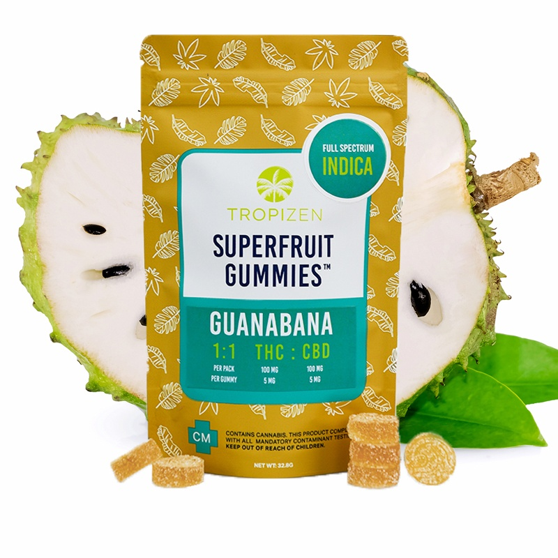 Tropizen's THC Infused Guanabana Superfruit Gummies