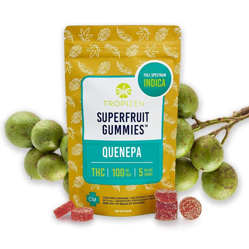 Tropizen's THC Infused Quenepa Superfruit Gummies